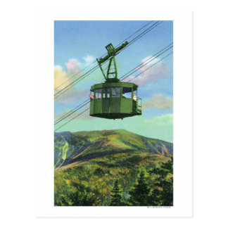View of the Cannon Mt Tram Ascending Postcard