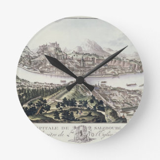 View of the Capital City and Fortress of Salzburg, Round Clock