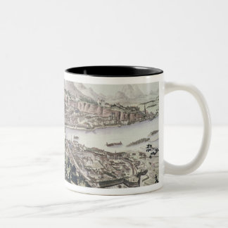 View of the Capital City and Fortress of Salzburg, Two-Tone Coffee Mug