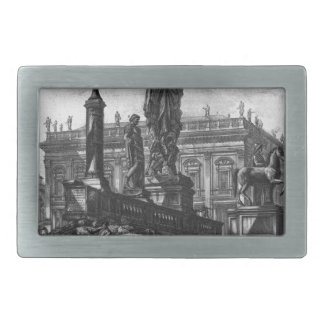 View of the Capitol by Giovanni Battista Piranesi Rectangular Belt Buckle