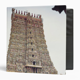 View of the carved exterior of the south gopuram vinyl binders
