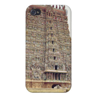 View of the carved exterior of the south gopuram iPhone 4 cover
