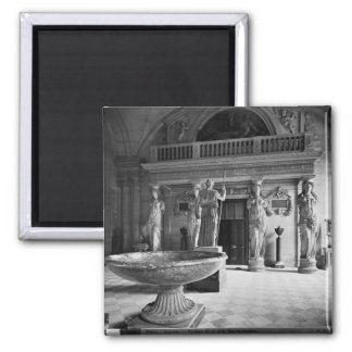 View of the Caryatids Tribune 2 Inch Square Magnet