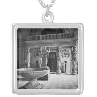 View of the Caryatids Tribune Square Pendant Necklace