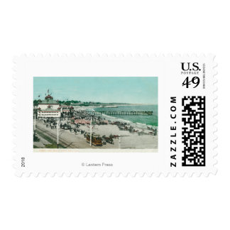 View of the Casino, Beach, and Pier Postage