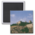 View of the castle 2 inch square magnet