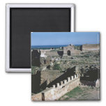 View of the castle, 8th-12th century 2 inch square magnet