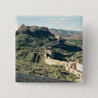 View of the castle, 8th-12th century pinback button