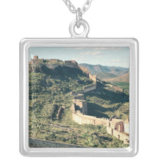 View of the castle, 8th-12th century silver plated necklace