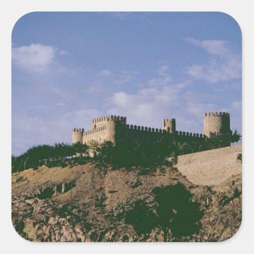 View of the castle square sticker