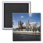 View of the Cathedral from the Seine, 1163-1345 2 Inch Square Magnet