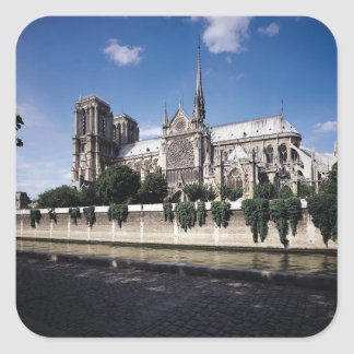 View of the Cathedral from the Seine, 1163-1345 Square Stickers