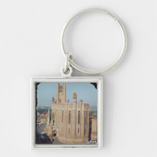 View of the Cathedral of Sainte-Cecile Key Chain