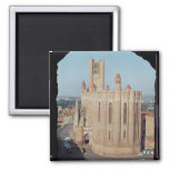 View of the Cathedral of Sainte-Cecile Refrigerator Magnets
