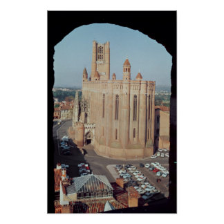 View of the Cathedral of Sainte-Cecile Poster