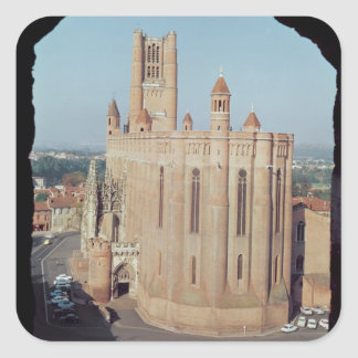 View of the Cathedral of Sainte-Cecile Square Sticker