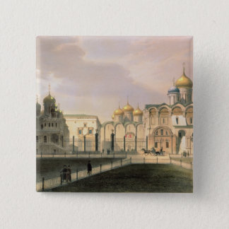 View of the Cathedrals in the Moscow Kremlin Button