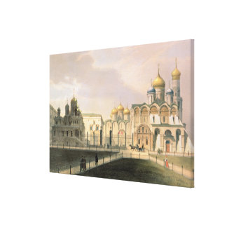 View of the Cathedrals in the Moscow Kremlin Gallery Wrap Canvas