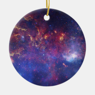 View of the Center of the Milky Way Galaxy Ceramic Ornament