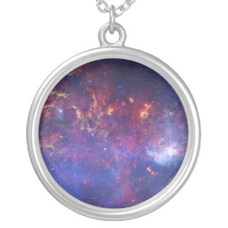 View of the Center of the Milky Way Galaxy Round Pendant Necklace