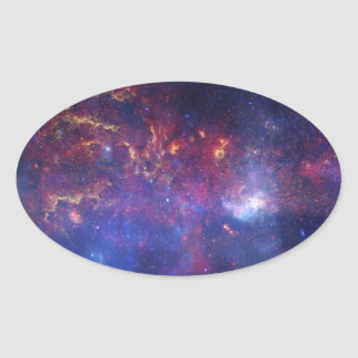 View of the Center of the Milky Way Galaxy Oval Sticker