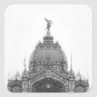View of the Central Dome Square Sticker