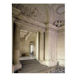 View of the central vestibule, built 1642-51 postcard