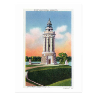 View of the Champlain Memorial Monument Postcard