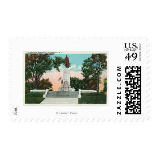 View of the Champlain Monument Postage