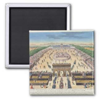View of the Champs de Mars, 14th July 1790 2 Inch Square Magnet