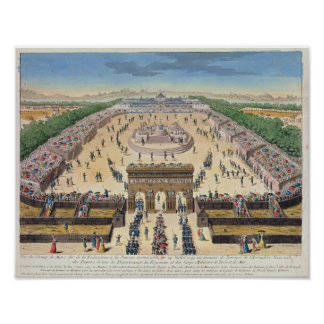 View of the Champs de Mars, 14th July 1790 Poster