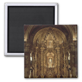 View of the chapel and High Altar 2 Inch Square Magnet