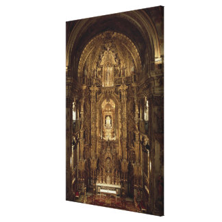 View of the chapel and High Altar Canvas Print