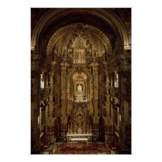 View of the chapel and High Altar Print