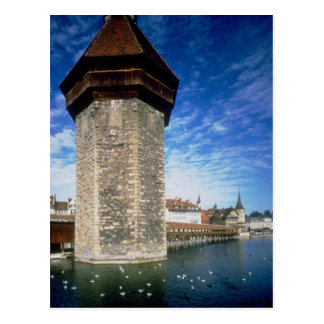 View of the Chapel Bridge in Lucerne, Switzerland Postcards