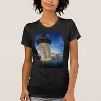 View of the Chapel Bridge in Lucerne, Switzerland Tshirts