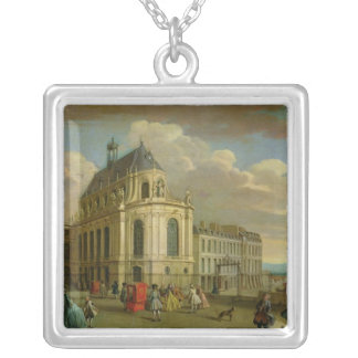 View of the Chapel of the Chateau de Silver Plated Necklace