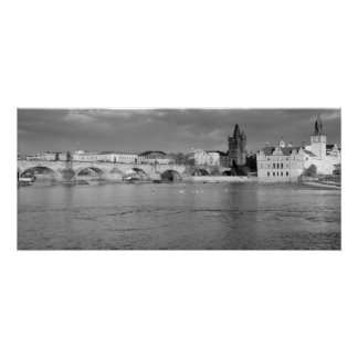 View of the Charles Bridge in Prague Poster