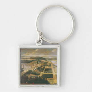 View of the Chateau and Gardens of St. Cloud, Keychain