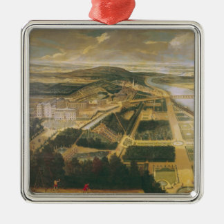 View of the Chateau and Gardens of St. Cloud, Metal Ornament