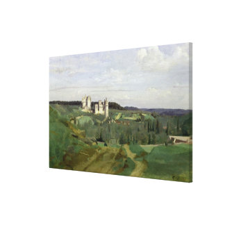 View of the Chateau de Pierrefonds, c.1840-45 Gallery Wrapped Canvas