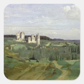 View of the Chateau de Pierrefonds, c.1840-45 Square Sticker