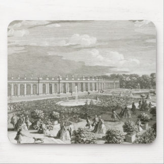 View of the Chateau de Trianon, the parterre (engr Mouse Pad