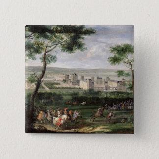 View of the Chateau de Vincennes, c.1665 Pinback Button