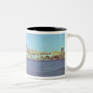 View of the Chateau des Templiers Two-Tone Coffee Mug