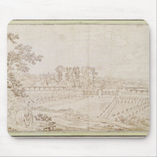View of the Chateau of Celle-Saint-Cloud, c.1750 Mouse Pad