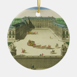 View of the Chateau of St. Cloud, engraved by Anto Ceramic Ornament