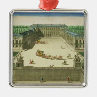 View of the Chateau of St. Cloud, engraved by Anto Metal Ornament
