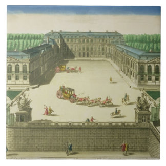 View of the Chateau of St. Cloud, engraved by Anto Tile