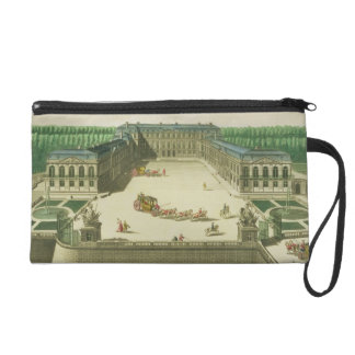View of the Chateau of St. Cloud, engraved by Anto Wristlet Purse